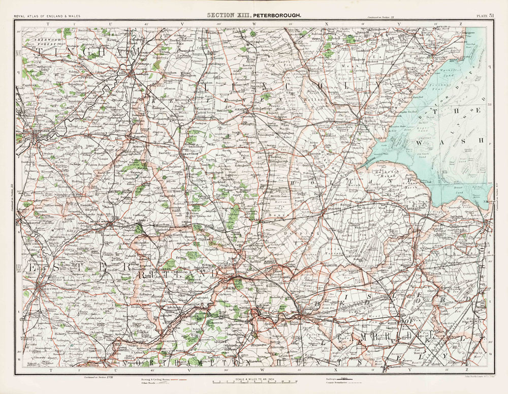 An Old Map Of Parts Of Nottinghamshire Lincolnshire