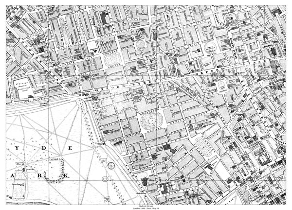 Old Map Of Oxford Street London In 1888