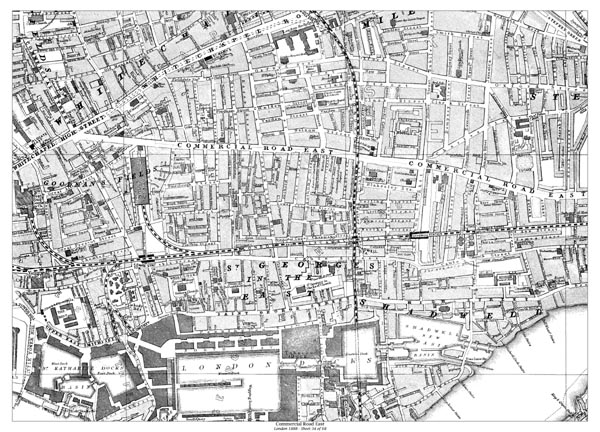 Old Map Of East London  London Map