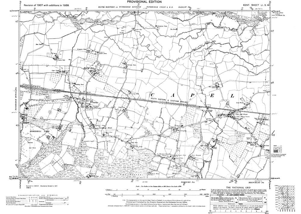 Tudeley kent map