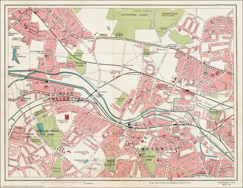 An Old Map Of The Smethwick Area Birmingham In As An Instant - Old map shop