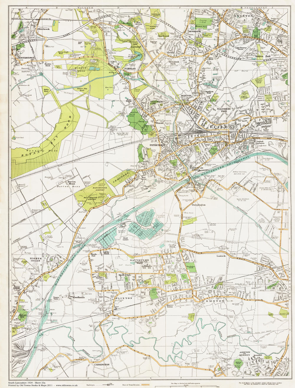 An Old Map Of The Eccles Area Lancashire In As An Instant - Old map shop