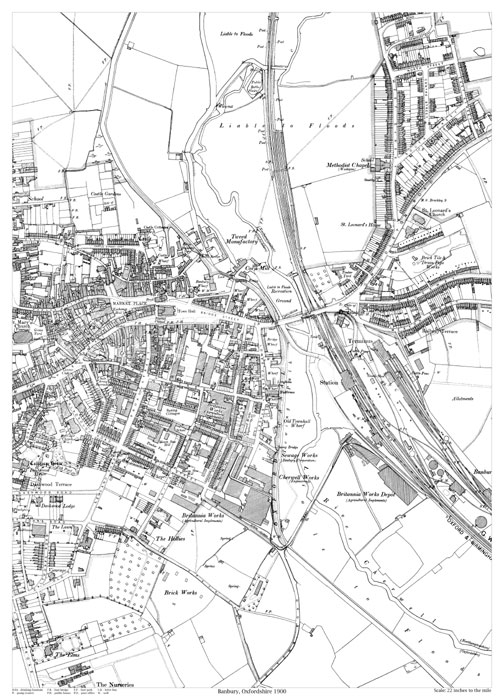 banbury 1900 map old maps of oxfordshire