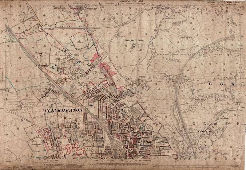 old map Yorkshire 1938: 232SW repro Liversedge Cleckheaton S Heckmondwike