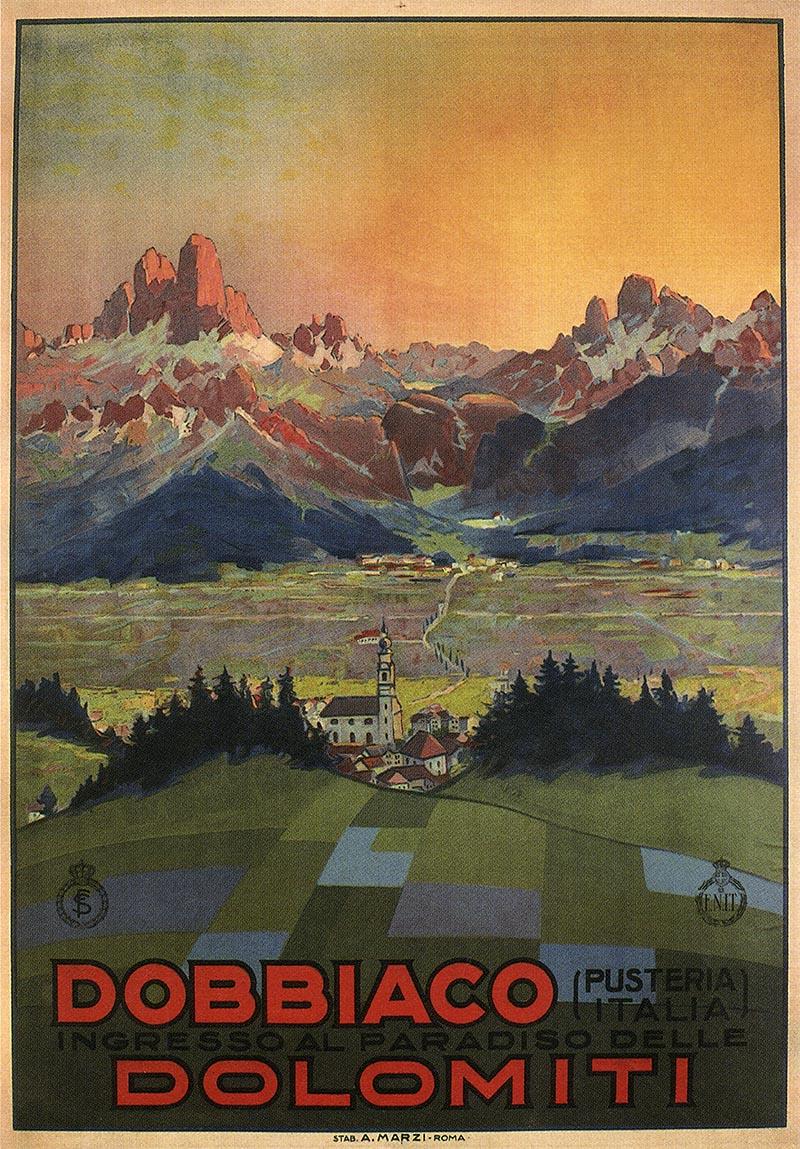 Dobbiaco Italy  city photos : Dobbiaco Dolomiti 1928 Italy Italian Vintage Old Repro Travel Poster ...