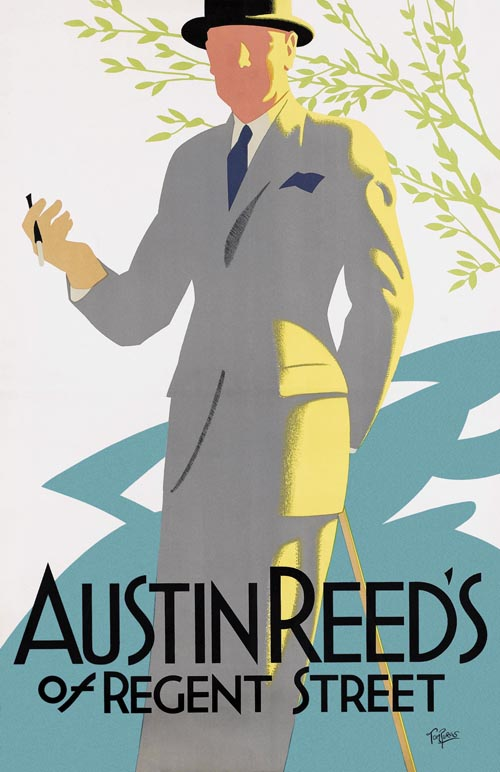 Old Towns Poster Austin Reed S Mens Clothes No4 1926