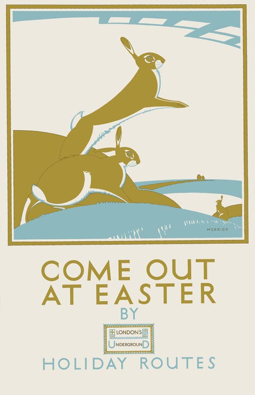 Old Towns Poster London Underground Come Out At Easter 1925
