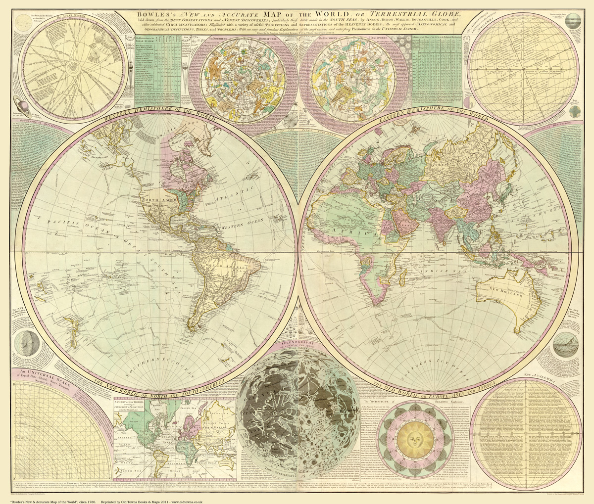Bowle 39 s New and Accurate Map of the World circa 1780
