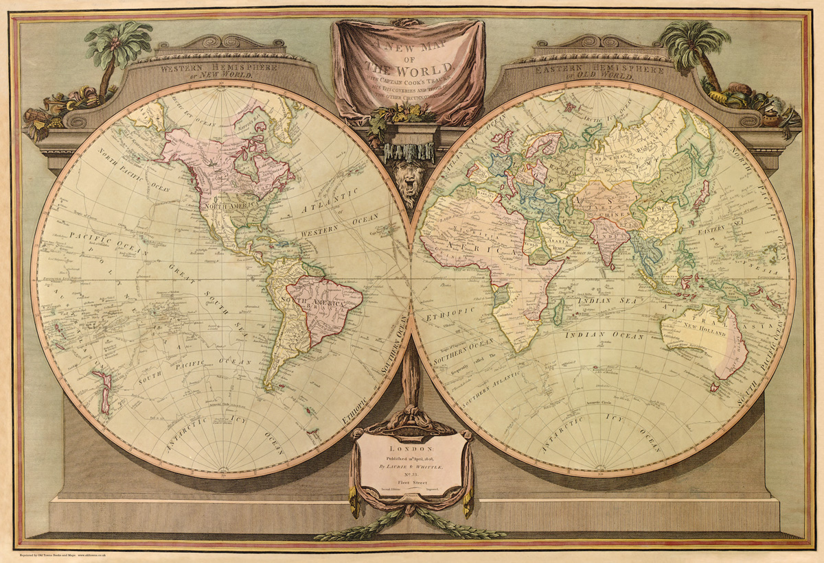 A new and map of the world by laurie and whittle 1808 gumiabroncs Choice Image