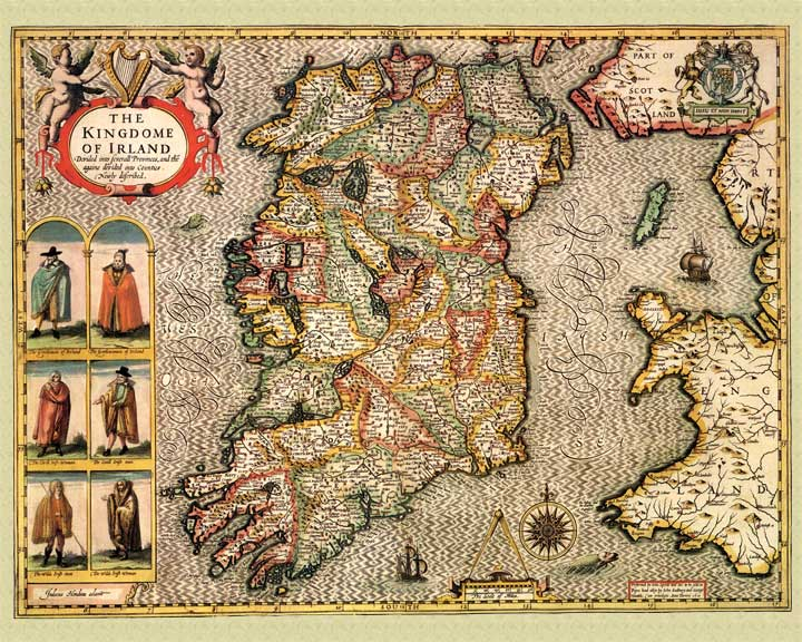 John Speed Map Of Ireland.Speed Map Ireland John Speed 1610